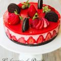 Cheese cake di fragole e Oreo