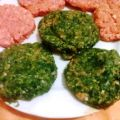 Hamburger con gli spinaci