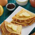 Crepes alle mele caramellate