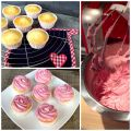Cupcakes di yogurt greco e more