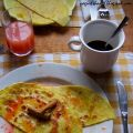 Crepes alla cannella con salsa all'arancia