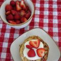 Pancakes light con ricotta e fragole