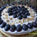 Cheese cake con l'uva.