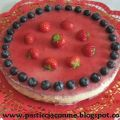Cheese cake fragole e mirtilli