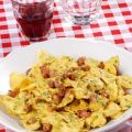 Carbonara di farfalle al curry
